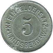 5 Pfennig (Landsberg am Warte) [Stadt, Brandenburg] – revers