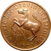 500 Mark (Westfalen) [Provinz, Landesbank Westfalen] – revers