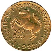 500 Mark (Westfalen; Freiherr vom Stein) – avers
