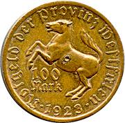 100 Mark (Westfalen; Annette von Droste-Hülshoff) – avers