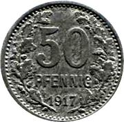 50 Pfennig (Hattingen) – revers