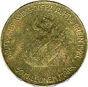 50 Millionen Mark (Ruhr und Rhein) [Metropolregion, North Rhine-Westphalia] – avers