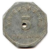 5 pfennig (Bensheim) – revers