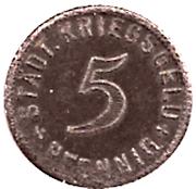 5 Pfennig (Kirchheim unter Teck) [Stadt, Württemberg] – revers