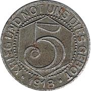 5 Pfennig (Calw) – revers