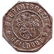 10 Pfennig (Gaildorf) – avers