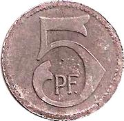 5 Pfennig (Murrhardt) [Stadt, Württemberg] – revers