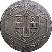 50 Pfennig (Neckarsulm) [Stadtgemeinde, Württemberg] – avers