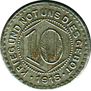 10 Pfennig (Calw) [Stadt, Württemberg] – revers