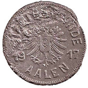 50 Pfennig (Aalen) [Stadt, Württemberg] – avers