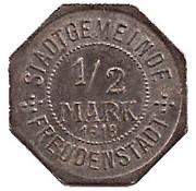 1/2 Mark (Freudenstadt) [Stadt, Württemberg] – avers