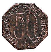 50 Pfennig (Heilbronn) [Stadt, Württemberg] – revers