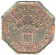 50 Pfennig (Tübingen) [Universitätstadt, Wüttemberg] – avers