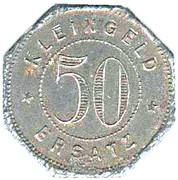 50 Pfennig (Tübingen) [Universitätstadt, Wüttemberg] – revers