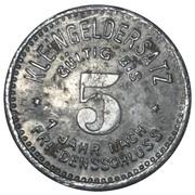 5 Pfennig (Meuselwitz) [Stadt, Sachsen-Altenburg] – revers