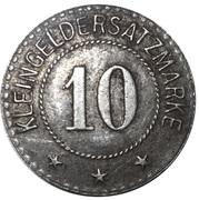 10 Pfennig (Schwarzbach an der Saale) [Stadt, Bayern] – revers