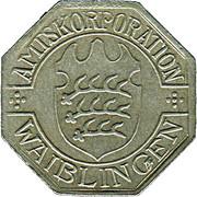 50 Pfennig (Waiblingen) [Private, Württemberg] – avers