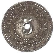 5 Pfennig (Mühlhausen in Thüringen) [Stadt, Provinz Sachsen] – avers