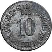 10 pfennig (Mainburg) [Marktgemeinde Bayern] – revers
