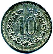 10 Pfennig - LAUF – revers