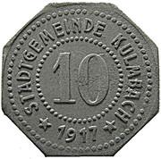 10 Pfennig (Kulmbach) [Stadt, Bayern] – avers