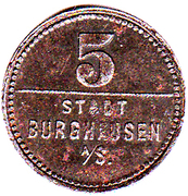 5 pfennig (Burghausen) – avers