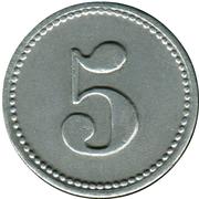 5 Pfennig (Mühlheim am Main) [Private, Hessen, Schrauben Industrie] – revers