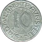10 Pfennig (Traunstein) [Stadt und Land, Bayern] – avers