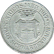 10 Pfennig (Schwarzenbach an der Saale) [Stadt, Bayern] – avers