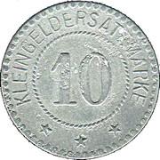 10 Pfennig (Schwarzenbach an der Saale) [Stadt, Bayern] – revers