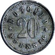 20 Pfennig (Schrobenhausen) [Stadt, Bayern] – revers