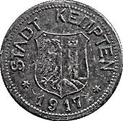 50 Pfennig (Kempten) [Stadt, Bayern] – avers
