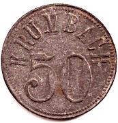 50 Pfennig (Krumbach) [Stadt, Bayern] – revers