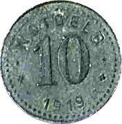 10 Pfennig (Unterweserstädte) [Städte, Bremerhaven-Geestemünde-Lehe] – revers