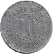 10 pfennig (Eduard Meyer) [Stadt Friedrichswerth] – avers