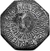 10 Pfennig (Schwandorf)[Private, Bayern, Braunkohlen Industrie] – avers