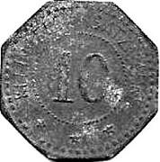 10 Pfennig (Schwandorf)[Private, Bayern, Braunkohlen Industrie] – revers
