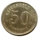 """50 pfennig  """" Stadt Menden """" – revers"""