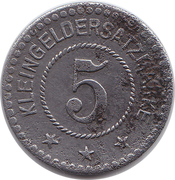 5 pfennig (Peine) [Stadt Hannover] – revers