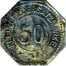 50 Pfennig (Montabaur) [Stadt, Hessen-Nassau] – revers