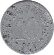 10 Pfennig (Rodach) [Stadt, Sachsen-Coburg] – revers