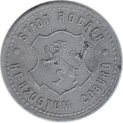 10 Pfennig (Rodach) [Stadt, Sachsen-Coburg] – avers