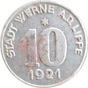 10 Pfennig (Stadt Werne A. D. Lippe) – avers