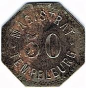 50 pfennig Tempelburg – revers