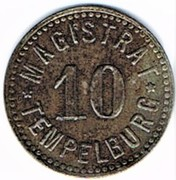10 pfennig Tempelburg – avers