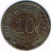 10 pfennig Tempelburg – revers