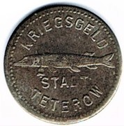 5 pfennig Teterow – avers