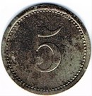 5 pfennig Teterow – revers