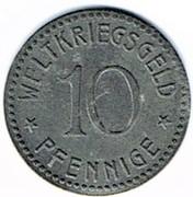 10 pfennig Thale Am Harz – revers