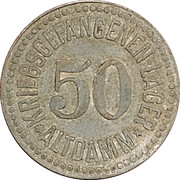 50 Pfennig (Altdamm) [POW, Pommern] – avers